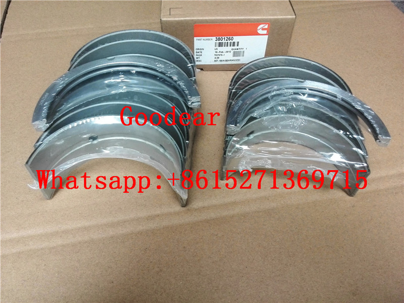 Chongqing Cummins NTA855 diesel engine crankshaft bearing 3801260