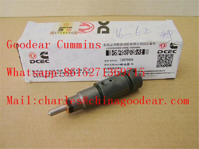 Dongfeng cummins 6L 375hp diesel engine fuel injector 3975929