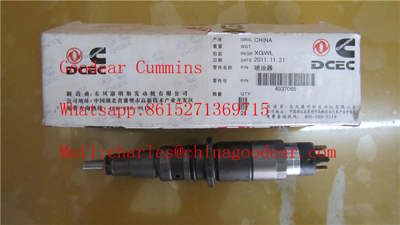 Dongfeng cummins isle diesel engine fuel injector 4937065/0445120123