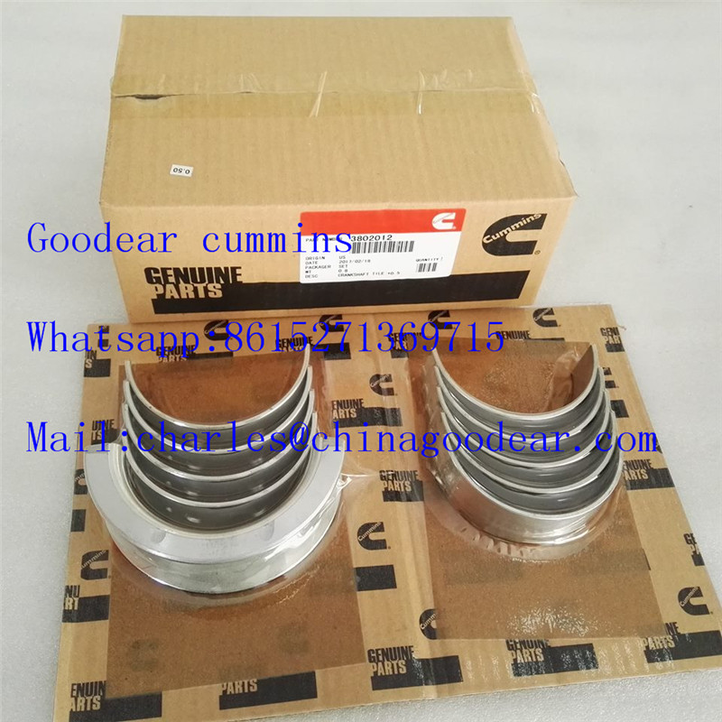 Dongfeng cummins 4bt diesel engine crankshaft bearing 3802012,4955857