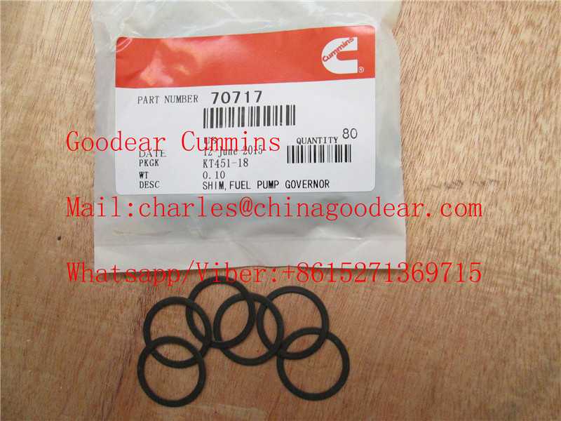 Chongqing cummins k38 diesel engine fuel pump governor shim 70717A