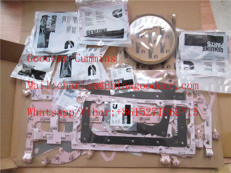 Chongqing cummins K38 diesel engine upper gasket kit 3800730,4352580