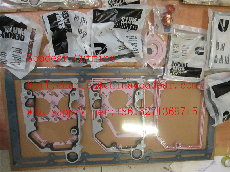 Chongqing cummins k38 diesel engine lower gasket kit 3804301,3801719